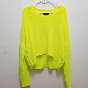 Sweaters - Neon cropped sweater